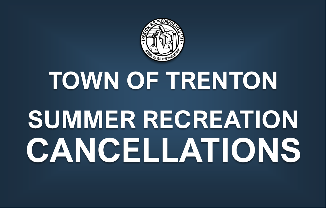 Town of Trenton Cancellations Notice (Summer 2020)