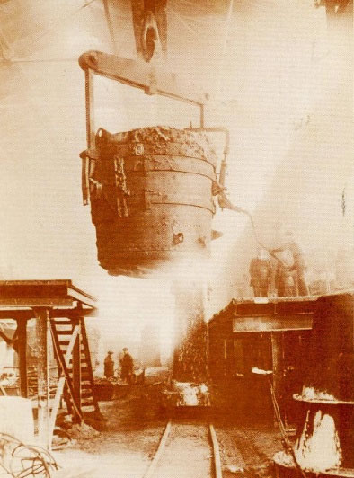 First Pouring of Steel in 1883